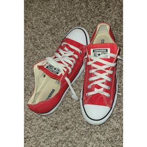 Converse red womens 10 mens 8